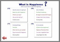Happiness - Menu of Topics