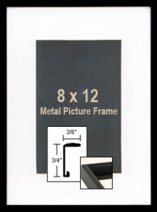 8x12 Black Picture Frames - Mod 8 x 12 Black Metal Picture Frame