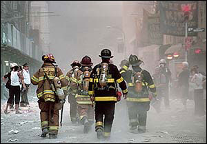 "9/11 Firefighter Photo ""Walk of Courage"" Signed Original Print"