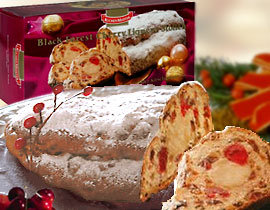 German Black Forest Cherry Liqueur Stollen Christmas Cake
