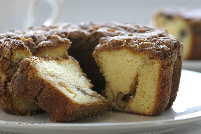 Traditional Coffee Cake Cinnamon Walnut Coffee Cake