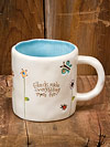 """Friends make everything more fun"" Jeweled Ceramic Mug"