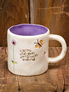 """Karma...what goes around comes around"" Ceramic Jeweled Mug"