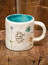 """Follow your heart and your dreams will come true"" Jeweled Ceramic Mug"