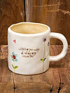 """Wishing you a day of ordinary miracles"" Ceramic Jeweled Mug"
