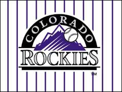 Colorado Rockies Logo Textile Poster Flag