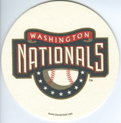 Washington Nationals Drink Coaster (2005)