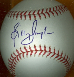 BILLY SAMPLE Autographed Baseball