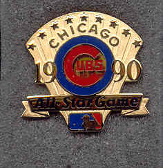 1990 All-Star Game Press Pin (Chicago)