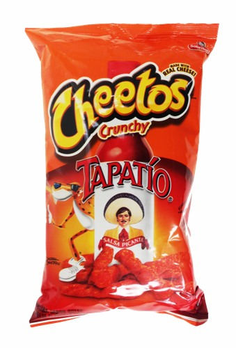 cheetos crunchy tapatio salsa picante made with real