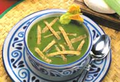 Cilantro and Squash Flower Soup