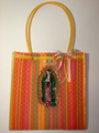 Our Lady of Guadalupe Handbag with Large Handle - Yellow