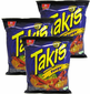 Takis Fuego Hot Chili Pepper & Lime by Barcel (Pack of 3)
