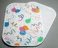 Plastic Place Mat  - Vinyl Placemat Fiesta Design - White - Double View