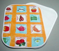 Placemat - Plastic Place Mat - Orange Color Cups Design - Double View