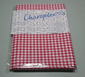 Vinyl Table Cloth - Oval plastic Table Cloth Red Gingham Tablecover