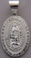 Medalla de Plata Virgen de Guadalupe - Our Lady of Guadalupe Silver Medal - XLarge Oval