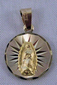 Our Lady of Guadalupe Medal - Medalla Virgen de Guadalupe Oro 14k Gold - Small Round