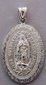 Medalla de Plata Virgen de Guadalupe - Our Lady of Guadalupe Silver Medal - Large Oval