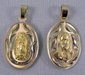 Medal - Medalla Escapulario Sagrado Corazon / Virgen de Guadalupe Oro 14k Gold - Medium Oval
