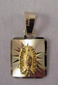 Our Lady of Guadalupe Medal - Medalla Virgen de Guadalupe Oro 14k Gold - Small Square