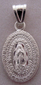 Medalla de Plata Virgen de Guadalupe - Our Lady of Guadalupe Silver Medal - Medium Oval