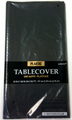 Plastic Table Cover Jet Black