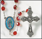Our Lady of Guadalupe Rosary - Epoxy Silver Plate Rosary