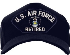 Air Force Direct Emblematic Retired Silver Ball Cap Hat