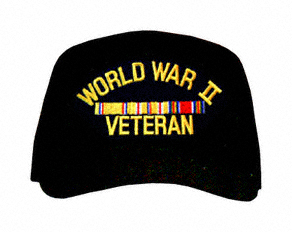 World War II Pacific Veteran with Ribbons Ball Cap
