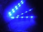 "Motorcycle LED 7Color 4pc Bike Glow Street Kit - 9"" Slimline Rods"