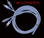 RCA Stereo Cable 16 ft <br>Lighting Audio