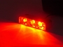 RED Led Motorcycle Lazer Lights - Chrome