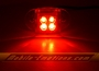 4 LED RED Motorcycle & Car Lights - Neon Glow from LEDS (Clear Case Design)