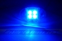 4 LED BLUE Motorcycle & Car Lights - Neon Glow from LEDS (Clear Case Design)