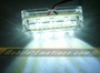 3 LED WHITE Motorcycle & Car Lights - Neon Glow from LEDS (Clear Case Design)