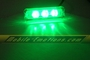 3 LED GREEN Motorcycle & Car Lights - Neon Glow from LEDS (Clear Case Design)