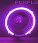 "12"" Round Purple Neon Speaker Rings"