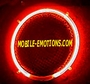 "12""  Round RED Neon Speaker Rings"