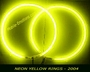 "12"" Neon Speaker Rings Yellow 2004"