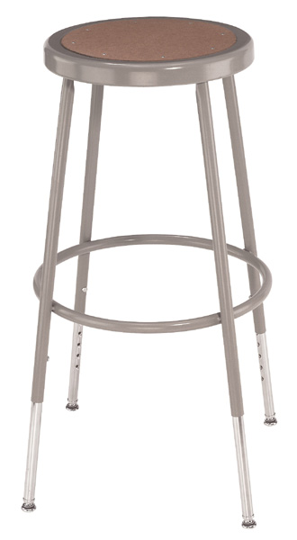 Adjustable Height Heavy-Duty Lab and Shop Stools