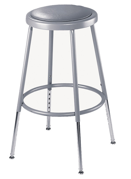 Adjustable Height Heavy-Duty Padded Lab Stools