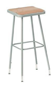 Square Adjustable Height Heavy-Duty Lab Stools