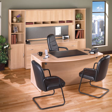 Light Oak Modular Office