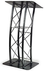 Black Aluminum Curved Truss Lectern
