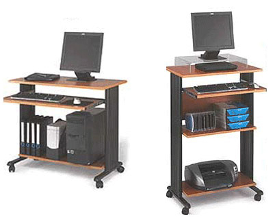 Mobile Computer Workstations in 2 Sizes & 3 Colors!