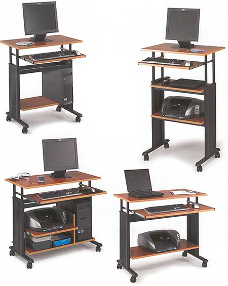 Adjustable Height Computer Workstations in 4 Sizes & 3 Colors!