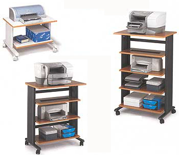 Mobile Printer/Machine Stands in 3 Sizes & 3 Colors!