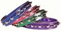 3/4 In Metallic Leather Spike Dog Collars for medium dogs