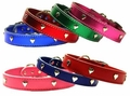 1/2 in wide Leather Heart Collars